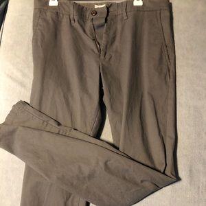 Grey chino pants, slim